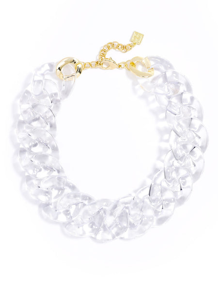Clear Links Collar Necklace clear
