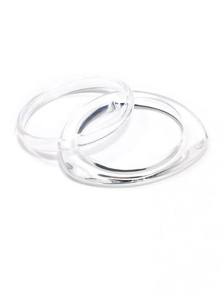 Clear Stacked Bracelet Set clear