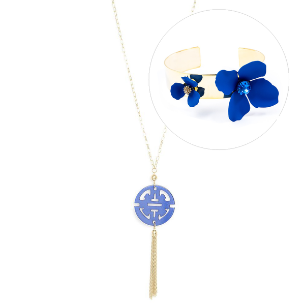 Cobalt Statement Jewelry Gift Set