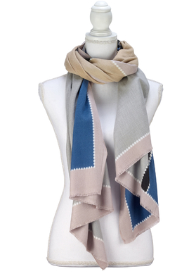 Color Block Design Scarf lilac