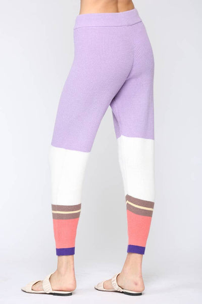 Color Block Knit Pants