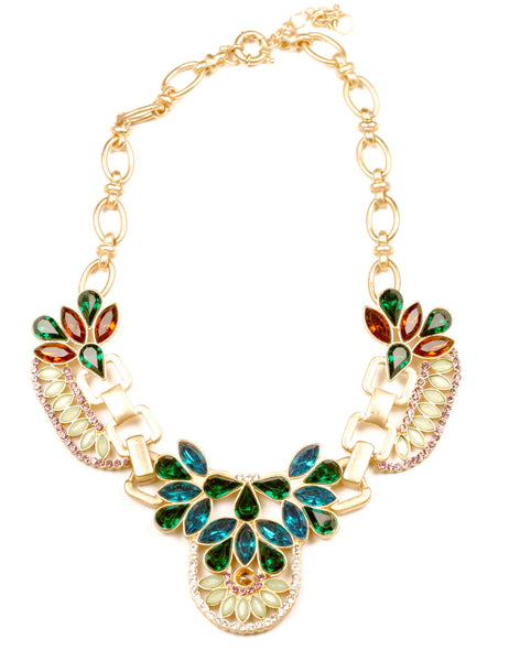Gem Feathered Necklace