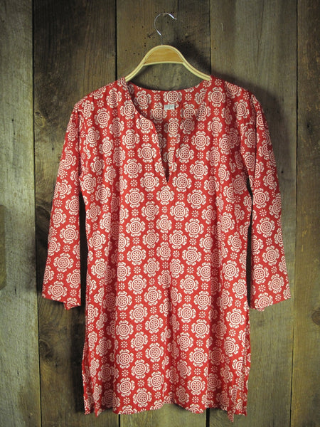 Cotton Tunic Top Tory Red