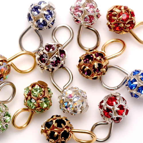 Crystal Ball Charm assorted colors