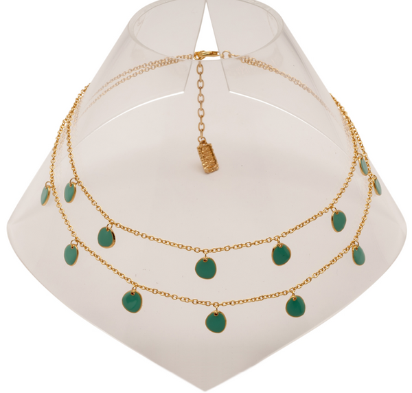 Delicate Enamel Beads Necklace b