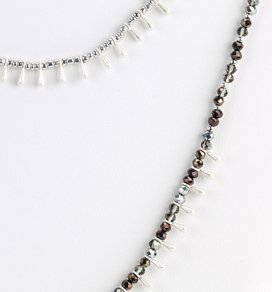 Delicate Teardrops Layered Necklace