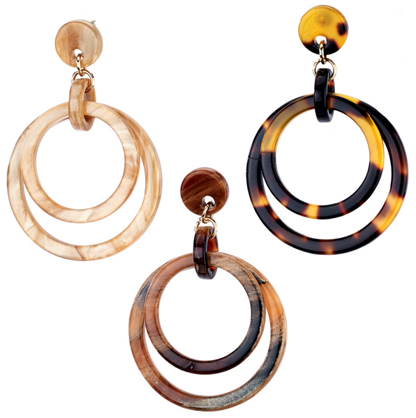Double Hoop Natural Earrings