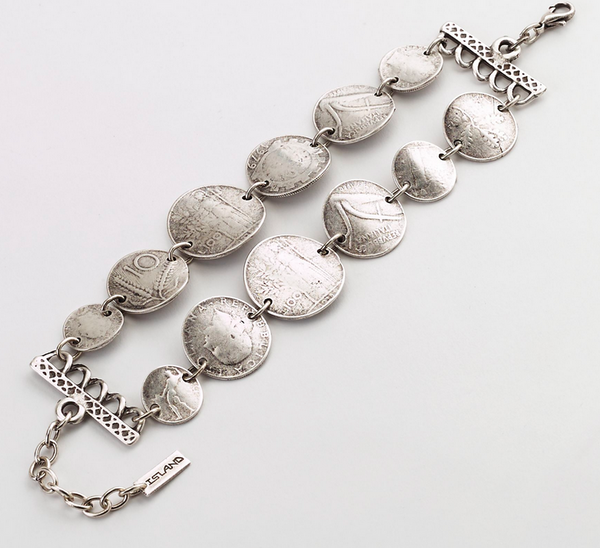 Double Row Turkish Coins Bracelet