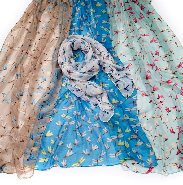 Dragonfly Printed Scarves