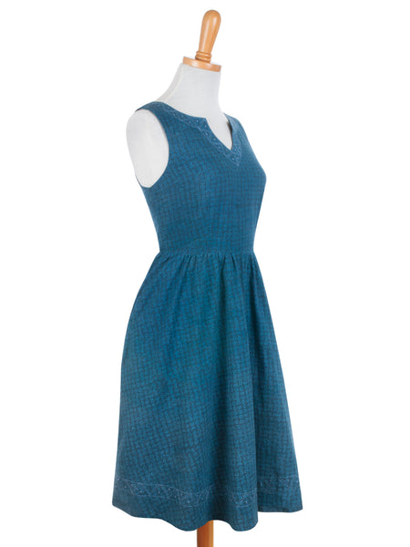 Art Fair Dress Blue - Girl Intuitive