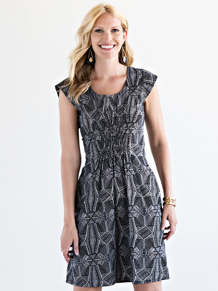 Artsy Traveler Dress Black