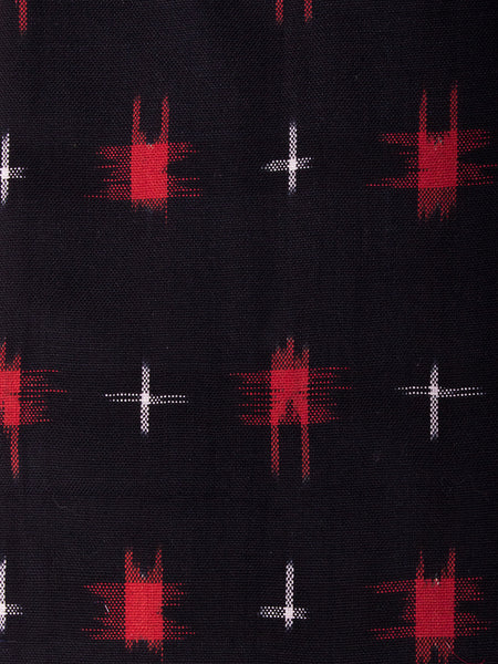 Bella Dress Black Red Ikat design