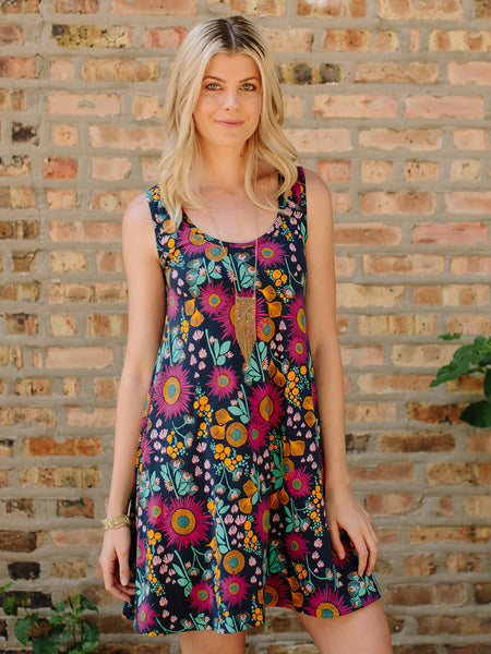 Mata Traders Bellini Dress Fuchsia Blue