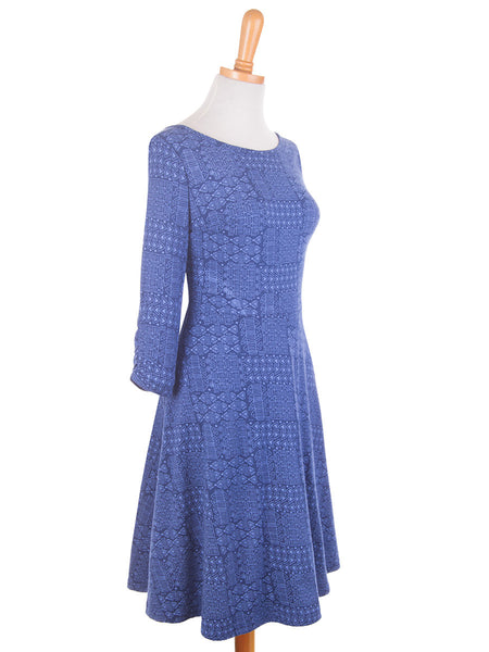 Boho Back Wrap Dress Cobalt
