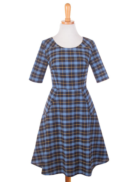 Country Estate Dress Blue f