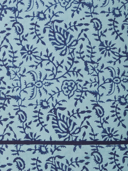 Floral blue dress fabric