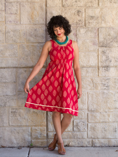 Free Spirit Dress Red model