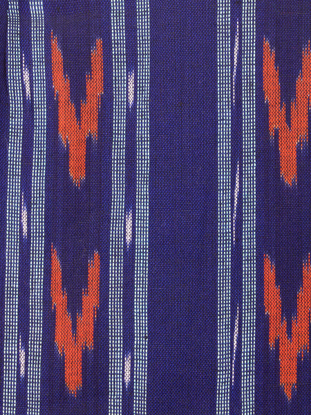 woven Ikat Mini Dress Blue