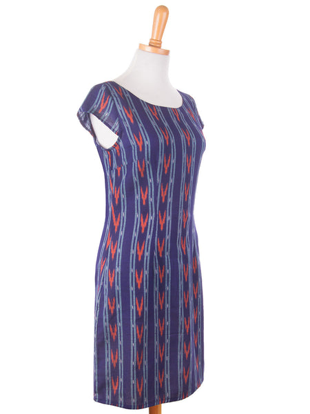 Ikat Mini Dress Blue s