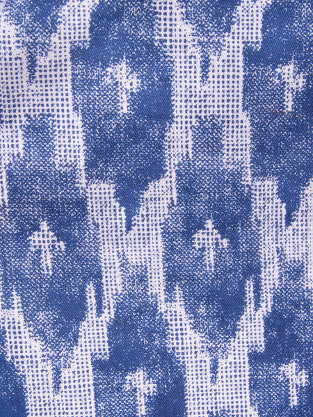 ikat Polo Dress Blue fabric