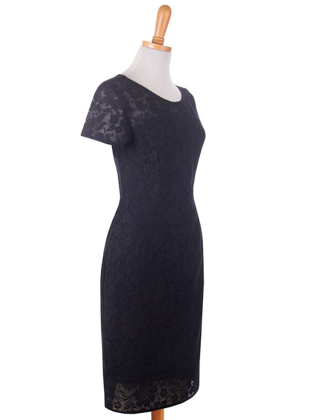 Lace Overlay Dress Black s
