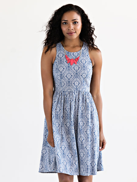 Mata Traders Madrona Dress Blue