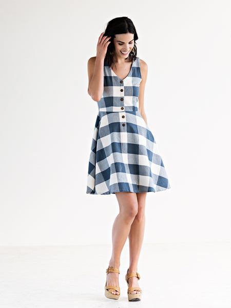 Mata Traders Midsummer Dream Dress Blue Plaid