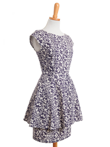 Poetry in Motion Purple Dress