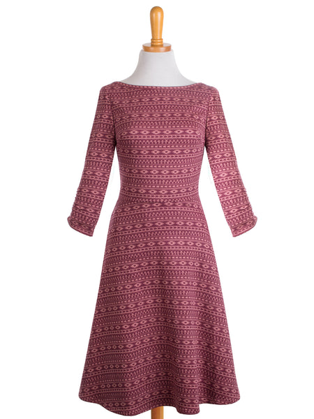 Reverse Wrap Dress - Marsala