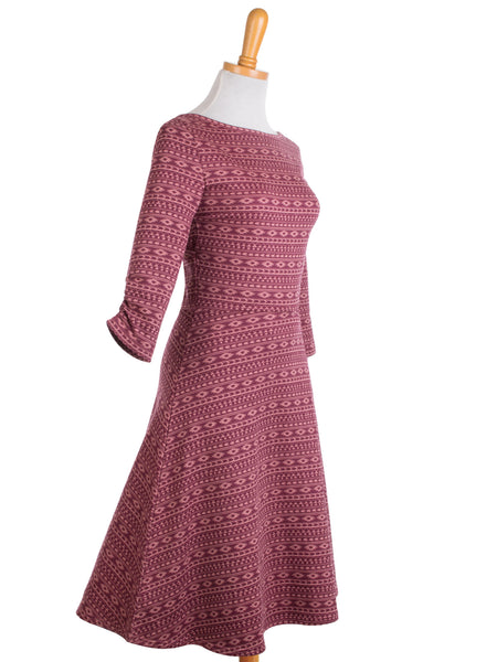 Reverse Wrap Dress - Marsala s