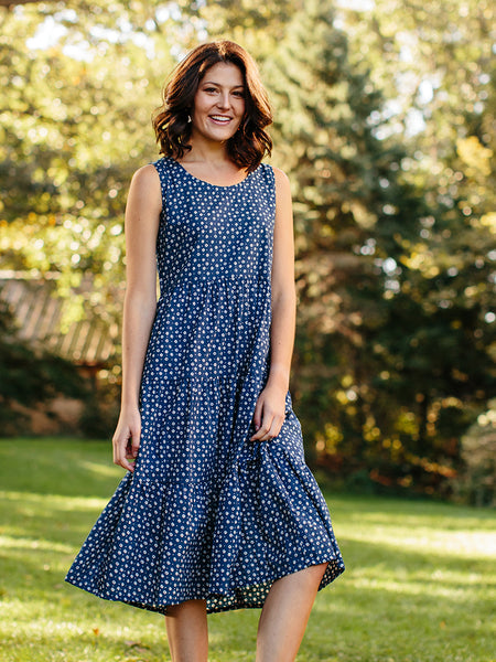Mata Traders Santa Monica Dress Blue Dots