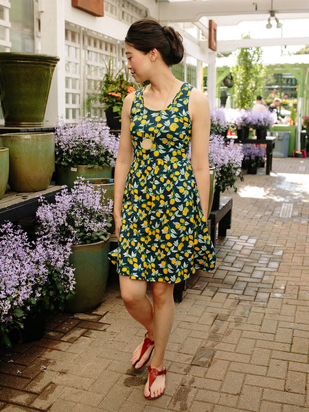 Mata traders Summer Sonnet Dress Lemons