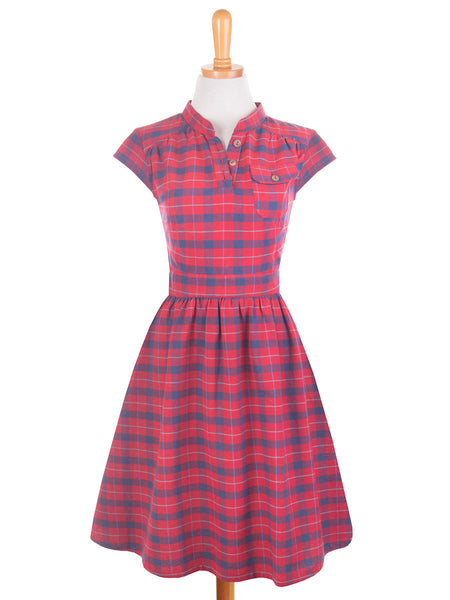Vermont Dress Red front