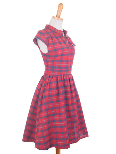 Vermont Dress Red side