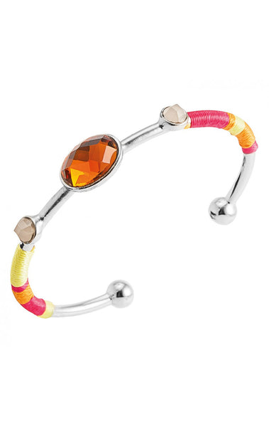 Hipanema Dune Silver Orange Bangle