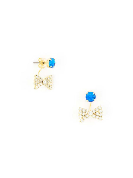 Bow-Tie Affair Earrings blue