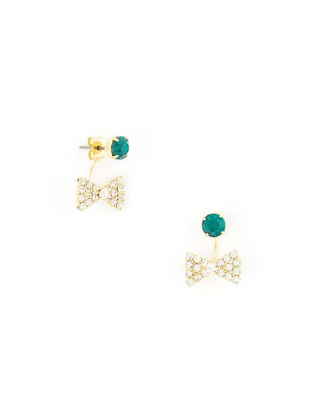 Bow-Tie Affair Earrings green