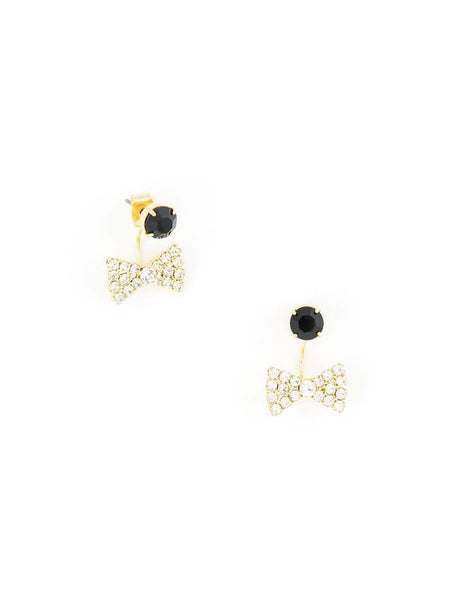 Bow-Tie Affair Earrings black