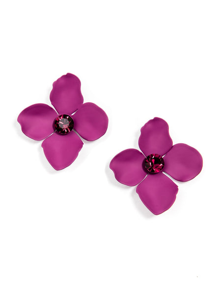 Flower Statement Stud Earrings