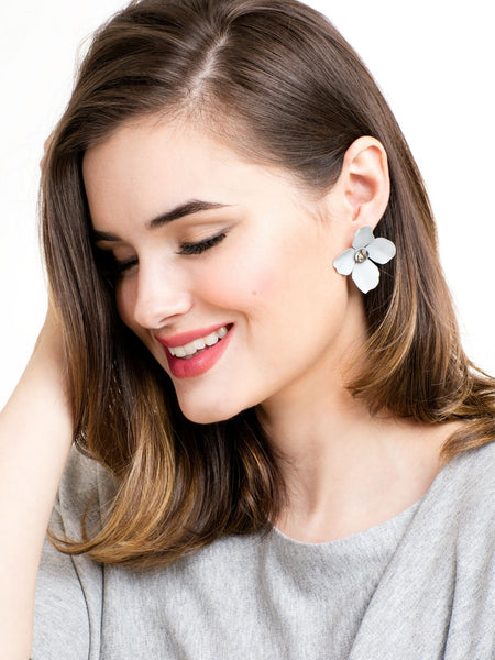 Flower Statement Stud Earrings model