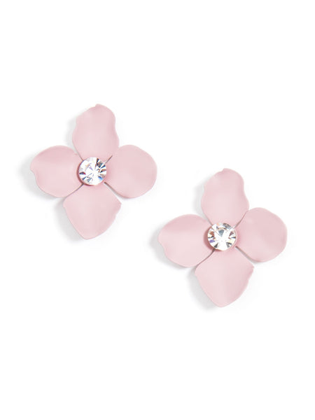 Flower Statement Stud Earrings rose