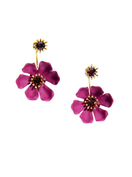 Flower Party Floating Earrings burgundy