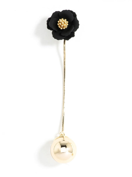Flower Bud Earrings black