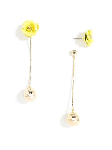 Flower Bud Earrings yellow