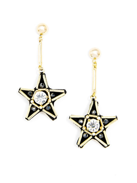 Handmade Star Drop Earrings