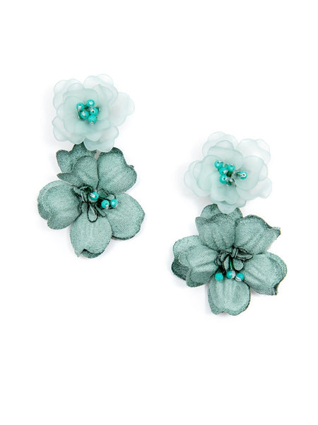 Realistic Floral Drop Earrings