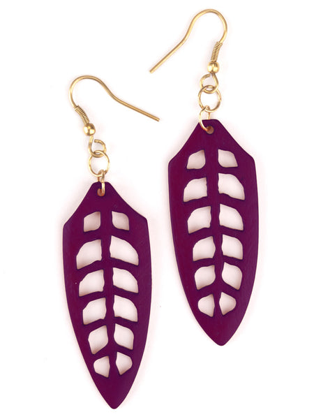 Arbor Purple Earrings - Girl Intuitive