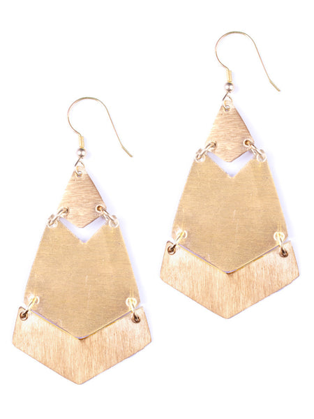 Brushed Brass Earrings - Girl Intuitive