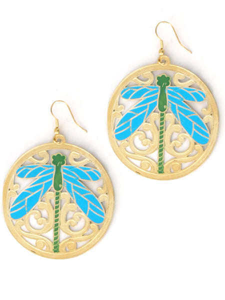 Dragonfly Filigree Earrings