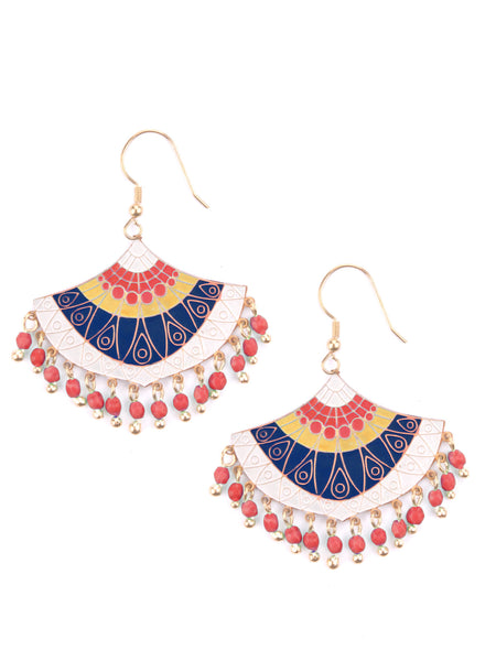Embellished Fan Earrings